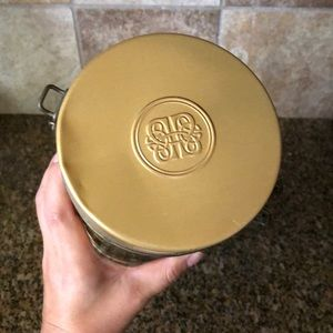 Vintage Kitchen - Vtg baileys round Tin can with clasp